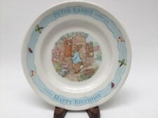 Wedgwood Peter Rabbit Happy Birthday Childs Plate 7� Frederick Warne