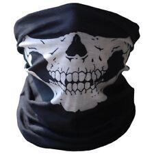 Multi-use Balaclava Neck-warmer Tube Headband Cap SNOOD FACE MASK Ghost Skull