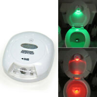 Auto-sensing Motion Activated Toilet Seat LED Nightlight Lamp GreenRedLight New