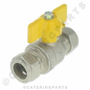 """15mm / 1/2"""" BUTTERFLY ISOLATOR  VALVE NAT GAS / WATER WITH COMPRESSION FITTINGS"""
