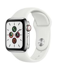 Apple Watch Series 5 40MM Stainless Steel GPS + Cellular White Band MWWR2LL/A