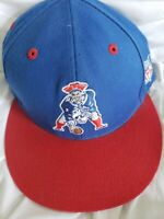 New England Patriots Snapback Hat Mitchell & Ness NFL Vintage Logo Collection