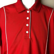 14c15e217b7 Krispy Kreme Womens Uniform Employee Oobe Hyrdrovent Red Size 2XL Polo 4  Button