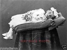 REPRINT OF 19th CENTURY POST-MORTEM PHOTO OF CHILD - ODD POSE, CREEPY