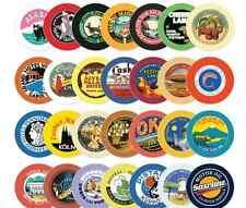 Nacoo's Kawaii Circle Label Point Sticker Set ( 48 pcs in tin case ) - Vintage