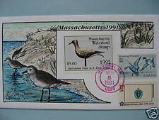 COLLINS H/P FDC 1991 MASSACHUSETTS MILFORD DUCK - RARE