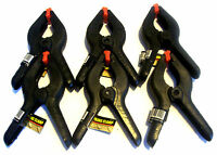 "6pcs IIT 6"" HEAVY DUTY ABS NYLON SPRING CLAMPS CLIPS WITH FLEX PADS 2-1/2"" JAW"