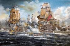 """""""Battle of Trafalgar"""" Giclee fine art  reproduction by Pierre de Wispelaere"""