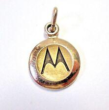 LQQK Small Real 14K Gold MOTOROLA Award Achievement Recognition Charm Pendant