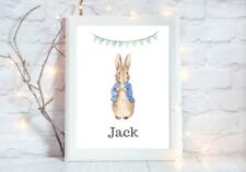 personalised peter rabbit  Print poster a4  picture UNFRAMEd nursery 4
