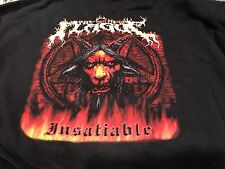 The New Plague 07 Insatiable L Hoodie! Iron Maiden Dio Ozzy Napalm Death Carcass
