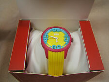 NEW Levis Pink Blue Yellow Unisex Watch 3D dial Silicon Band New Battery LTI0810