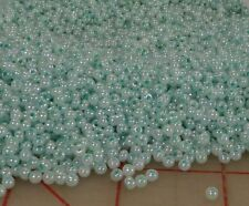 2.2 pounds Czech glass seed beads blue-green mint 8/0 wholesale 1 kilo wholesale
