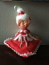 Vintage Valentine Pixie Elf on Pillow
