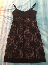Womens Black Dress Lace Detail Size 10