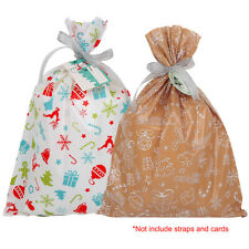 5Pcs Christmas Xmas Party Candy Bags Gift Wrapping Pouch For Cookie Snacks