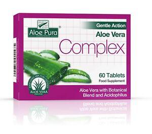 Aloe Pura Gentle Action Aloe Vera Complex Tablets 180 (3 X 60) BBE 2024