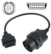 20 Pin Round to 16 Pin OBD2 OBDII Diagnostic Connector Adapter Cable for BMW