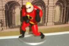 """NEW DISNEY PIXAR MR INCREDIBLE 3"""" POSEABLE ACTION FIGURE CAKE TOPPER W/ STAND"""