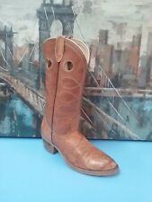 Mens RAMRODS 57623 Sz 10.5 D Camel Brown Cowboy Boots