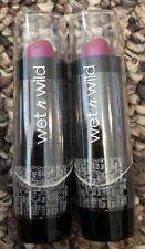 2 Wet n Wild Silk Finish Lipstick - Fuchsia With Blue Pearl 527B New Sealed