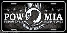 POW MIA You Are Not Forgotten Novelty Metal Car License Plate Sign