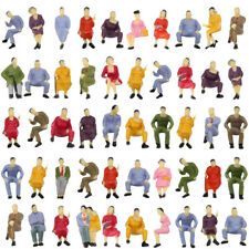 P4302 50pcs all Seated 1:43 Painted Figures Passenger O Scale