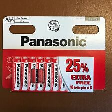 10 x AAA Genuine Panasonic zinco carbonio Batterie-Nuovo LR03 1.5V MN2400 02/2020