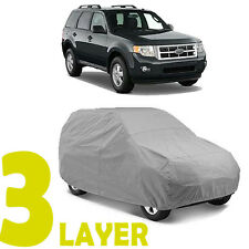 TRUE 3 LAYERS GRAY FITTED SUV COVER OUTDOOR WATER SUN RESISTANT for FORD ESCAPE