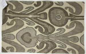 """Pottery Barn Kenmare Ikat Embroidered Lumbar Pillow Cover ~ 16"""" x 26"""" ~ Neutral"""