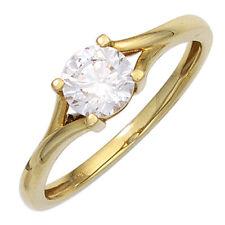 Echtschmuck aus Gelbgold mit Zirkon-Perlen für Damen