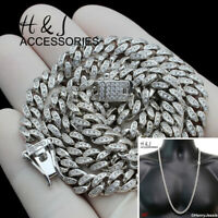 """30""""MEN 925 STERLING SILVER 6MM BLING MIAMI CUBAN CURB CHAIN NECKLACE*SN19"""