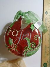 Joy Red Round Shaped Ornament