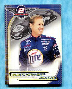 2002 Press Pass Rusty Wallace Fan Club Exclusive - Series 1