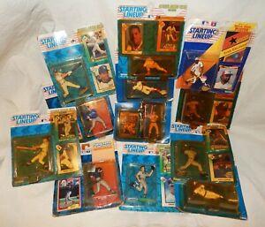 Lot 12 Kenner Starting Lineup Baseball Figures & Collector Cards 1988 - 1994 NOS