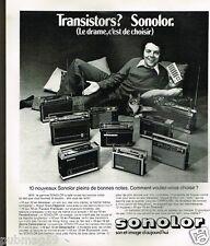 Publicité advertising 1975 Les Transistors Sonolor
