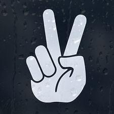Peace Sign Hand Print Car Decal Vinyl Sticker For Panel Bumper Window