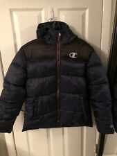 97c2a901304f Champion Puff Jacket Coat Jacket Navy And Black Men s Size L New