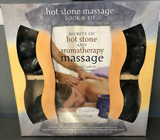 NEW Still Sealed Hot & Cold Stone Massage Therapy Kit Color Book River Stones
