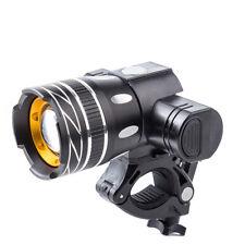 Bicycle Headlight CYCLING BRIGHT LED Modes Durable Adjustable Flashlight Black