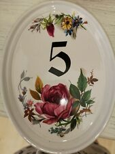 Ceramic House number 5 Plaque 19 x 15cm approx no fixings