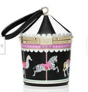 Kate Spade Flavor of the Month Carousel Novelty Bag & keyFob NWT!
