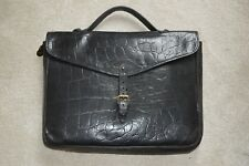 Mulberry Black Congo Leather Satchel Briefcase Document Holdall Bag Mens Unisex