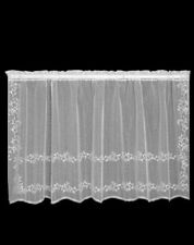 "Heritage Lace White SHEER DIVINE Window Tier 60""Wx30""L"
