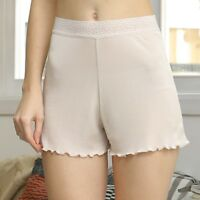 Ladies Silk Knitted Briefs Underwear Pettipants Knickers Breathable Ruffles