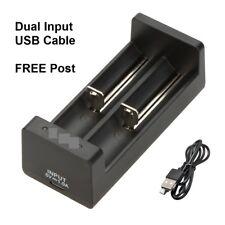 Universal Doble 3.7/1.2V USB Cargador de batería de litio de vaporizador 18350 18650 16340 18500