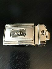 Silver Tone Buckle with an Angry Something Animal on the Front a Star 88