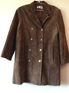 LIZ CLAIBORNE Ladies Long Suede Jacket Size 16