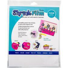 Clear Shrink Plastic Polyshrink Shrink Film Sheets Draw, Trace Stamp Designs