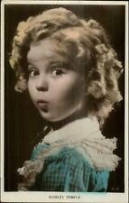 Actress Shirley Temple Tinted Real Photo Postcard 36-2